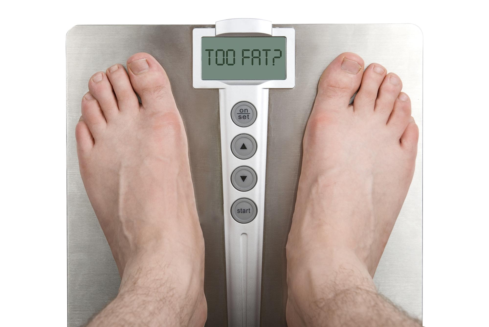 Badevægt med fedtprocentmåler