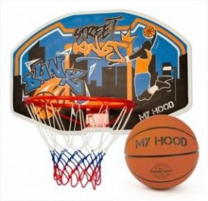 Basketkurv på plade inkl. bold_1