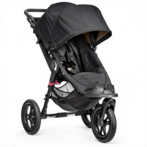Baby Jogger City Elite Single klapvogn i sort.