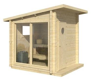 Polhus saunahytte Olli 4 m2 uden saunaovn