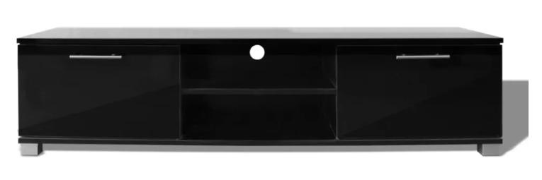 VidaXL - Tv-bord i flot højglanssort