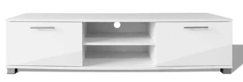 vidaXL højglanshvidt tv-bord