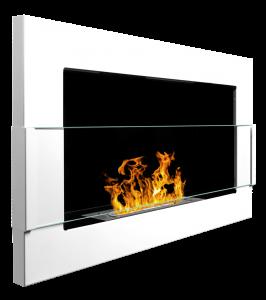 Biopejs væghængt i hvid 65x40 cm