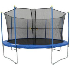 Stor trampolin inklusiv sikkerhedsnet – 4,3 meter