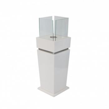 Elegant gulv biopejs med glas